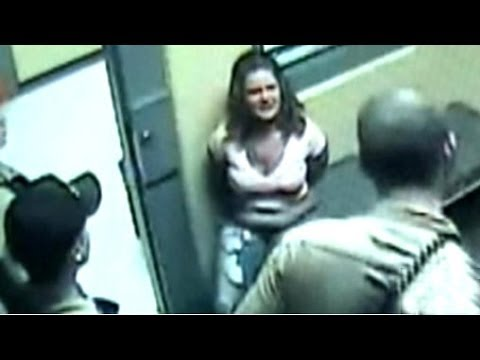 Woman stripped naked by girls video