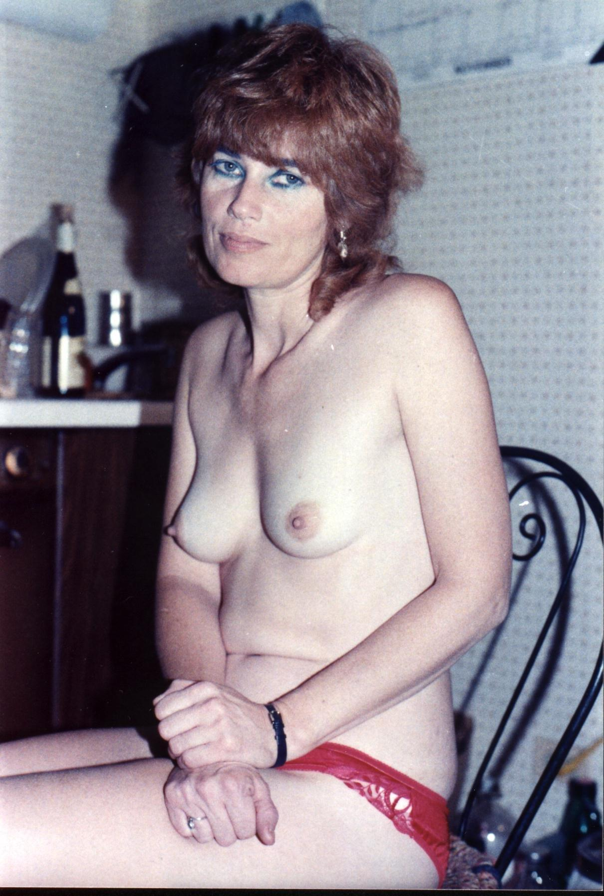 Vintage mature small tit wife
