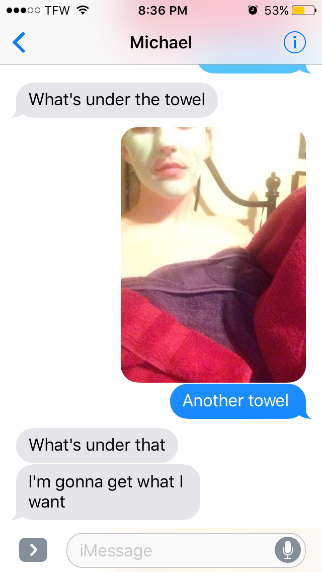 Naked texts of girls