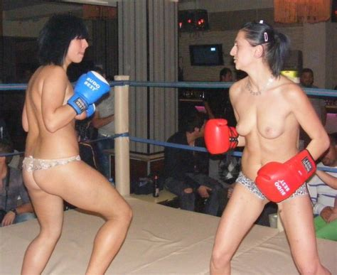 Asian topless boxing