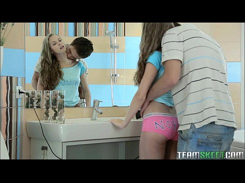 Girl surprise in bath by dick video
