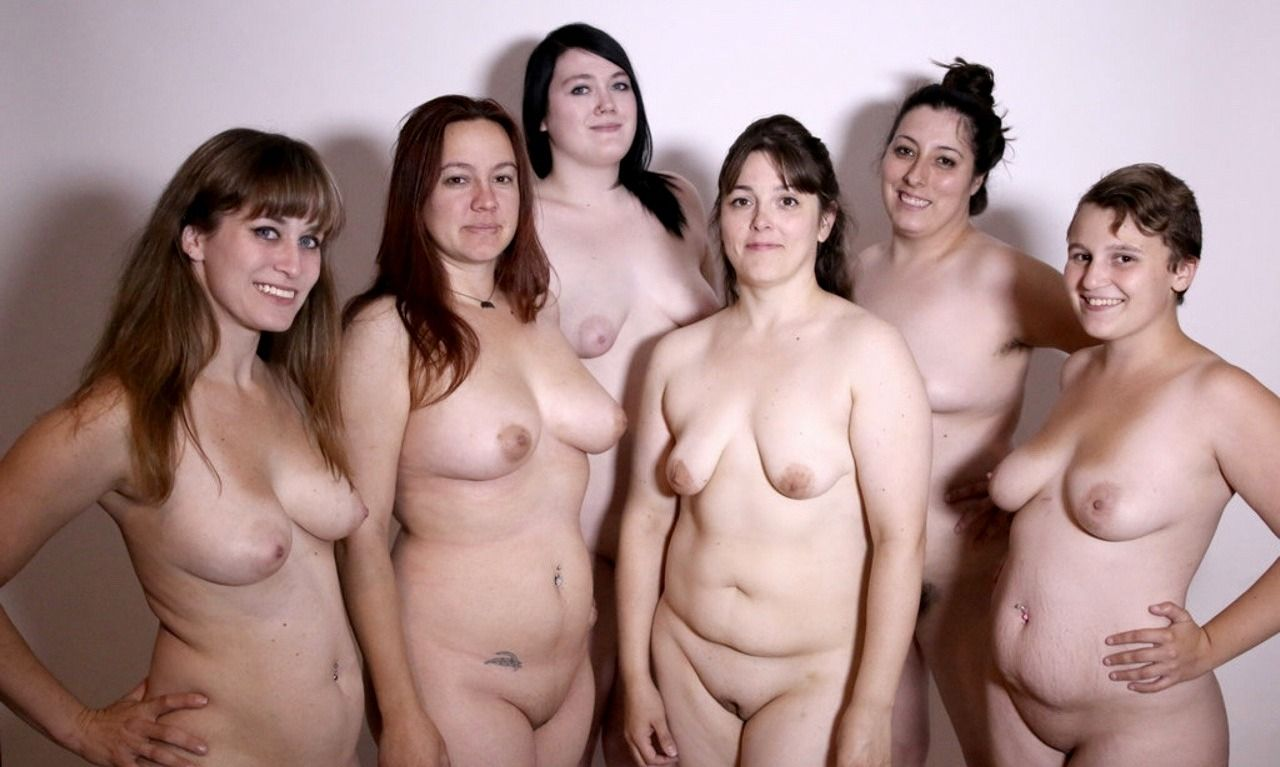 Groups of young nude girls together