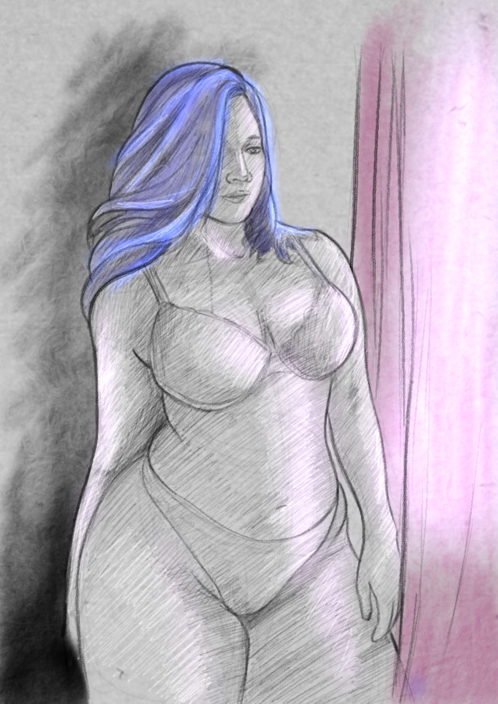 Naked thick girls drawings