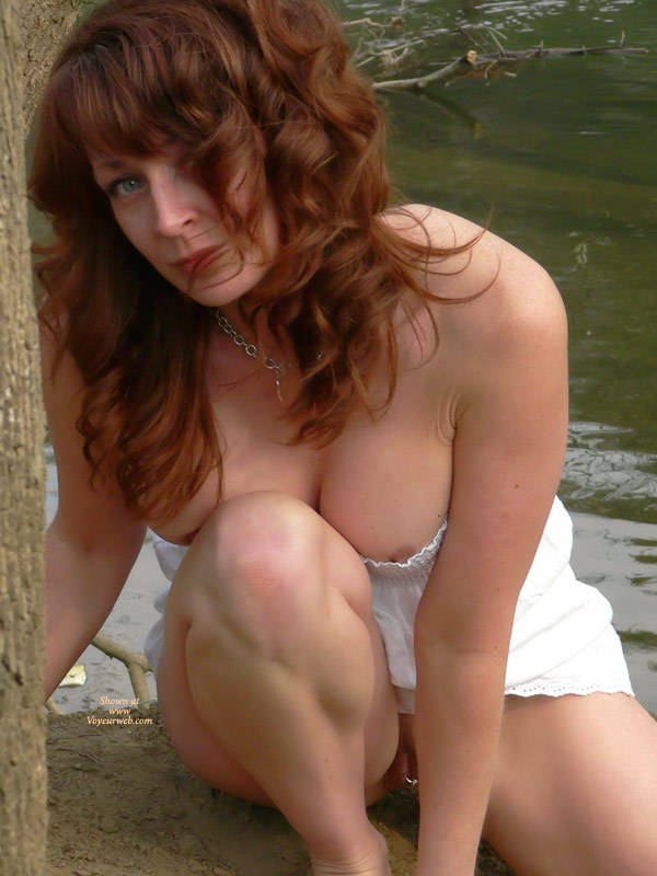 Real mature milf partially nude