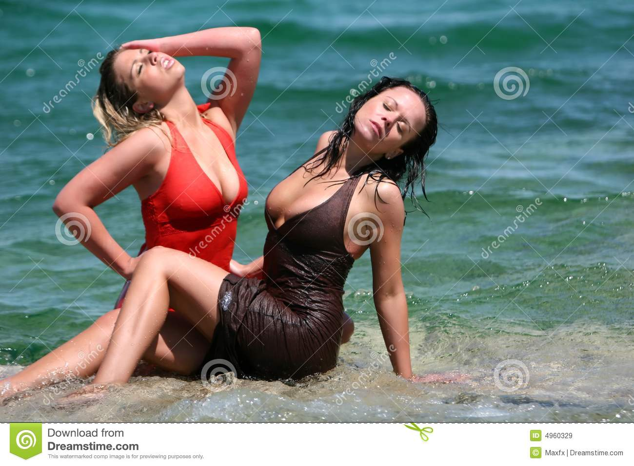 Sexy girls in water